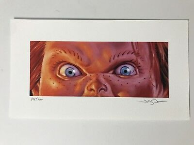 Chucky - Jason Edmiston Print Mondo Childs Play Horror Eyes Without A Face EWAF