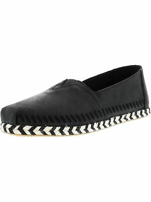 Toms Womens Classic Leather Rope Sole Ankle-High Slip-On Shoes