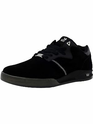 Supra Mens Quattro Ankle-High Leather Skateboarding Shoe