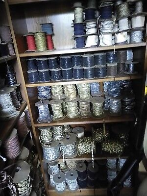 2400- Rolls of Beading - Trim and Fringe Beads Very Large LOT