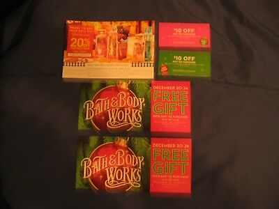 BATH AND BODY WORKS COUPONS LOT OF 5