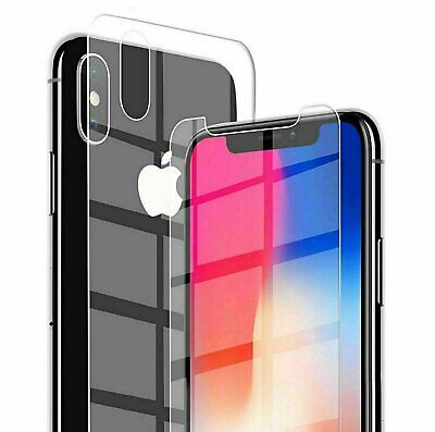 For iPhone 12 XS Max XR X Front and Back 9H Tempered Glass Screen Protector