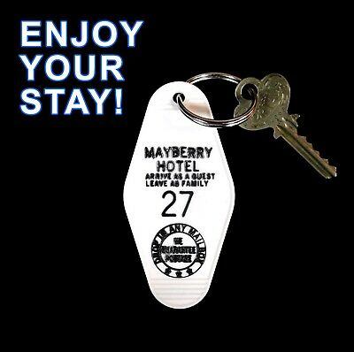 Rare MAYBERRY HOTEL The Andy Griffith Show PROP KEY TAG Barney Fife Darlings 27