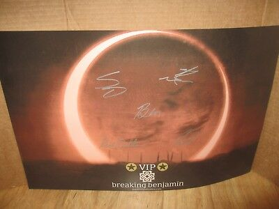 BREAKING BENJAMIN Poster SIGNED BY ALL 2016 ACOUSTIC TOUR