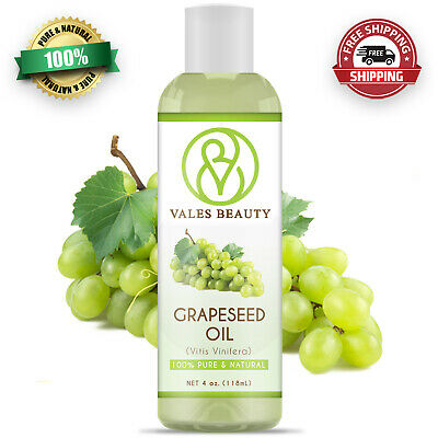 Grapeseed Oil 4 oz 100 Pure Natural Carrier Cold Pressed For Body Hair - Skin
