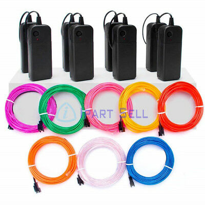 Neon LED Light Glow EL Wire String Strip Rope Tube Car Dance Party - Controller
