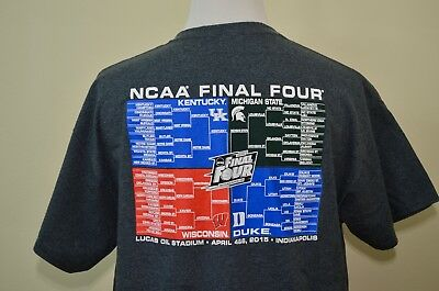 2015 Final Four March Madness t-shirt XL Duke Kentucky Wisconsin MSU basketball