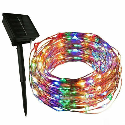 16-5ft 33ft Outdoor Solar Powered 50 100 LED Copper Wire Light String Xmas
