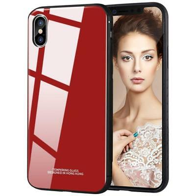 PC Glass iPhone XS XS MAX XR TPU Case Protective Mirror Back Hybrid Design