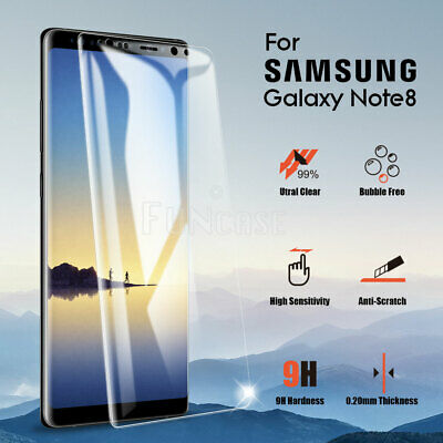 Full Glue Coverage Tempered Glass Screen Protector For Samsung Galaxy Note 8