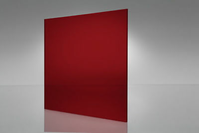Acrylic Plexiglass Red Transparent Sheet 18 Thick - You Pick The Size 2423