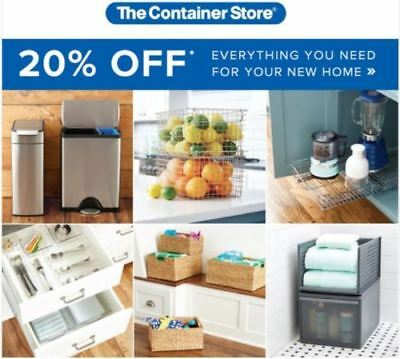 The Container Store 1coupon for 20 Off Purchase In Store or Online Exp 020519