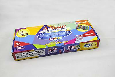 A-Sonic Loom Bands Kit Extra 600 Bands - 25 S-Clips Rainbow Colors Bracelet Set