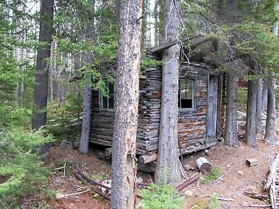 Montana Gold Mine Silver Mining Claim Huge Tailings of Ore - Cabin on Site