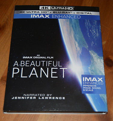 A Beautiful Planet 4K UHD  Blu-ray Combo IMAX Jennifer Lawrence NASA w Slip