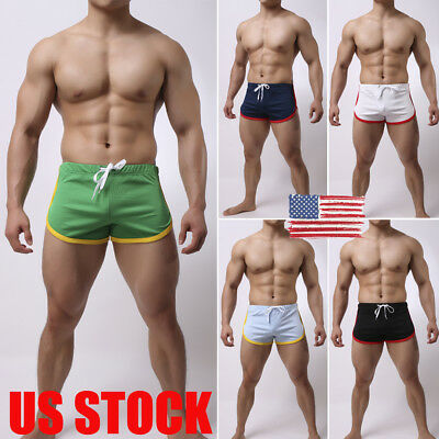 US Men Gym Training Shorts Workout Sports Casual Clothing Fitness Running Short