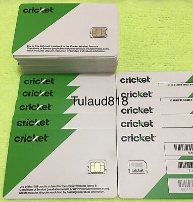 🆕 🔴 Cricket -  Nano - Sim Card  🔴 for NEW service -OR- REPLACEMENT 🔵