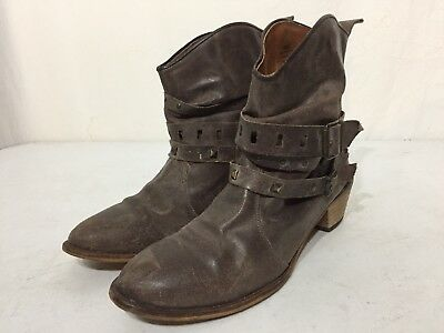 Men's Brown Leather Steve Madden Texic Boots-Size 11
