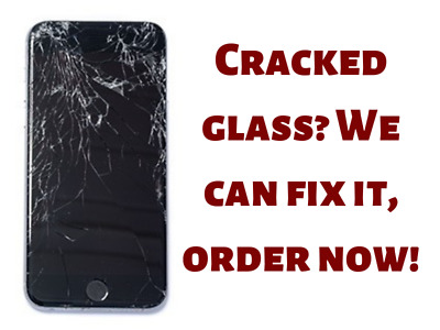 Samsung Galaxy S8- plus Cracked Screen Glass Repair Replacement Mail In Service