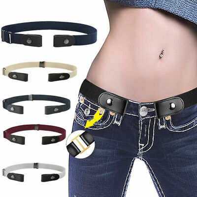 Stretch Invisible Belt Waistband For Trousers No Bulge Hassle Without Buckle