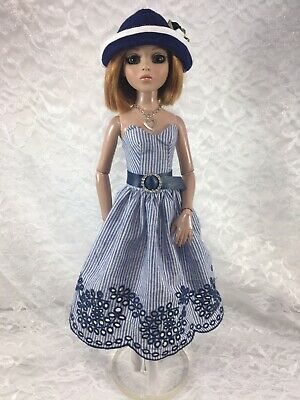 Ellowyne Wilde 16 Doll Tonner Outfit Fashion - Crisp And Clean Dress Set