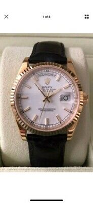 Rolex 118238 Day Date 18K Gold President White Dial