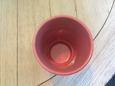 Pink pottery vase made in Germany