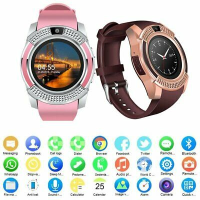 Bluetooth Smart Men Women Watch Wrist Phone Mate Touch Screen for IOS Android
