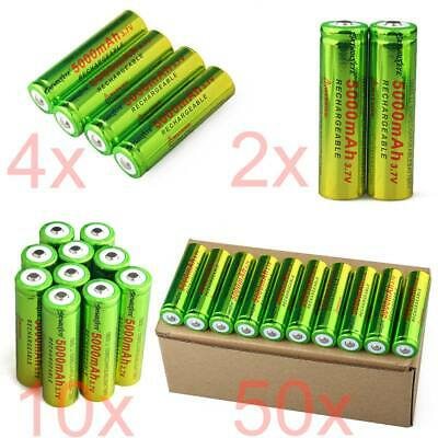 Lot of Skywolfeye 3-7V 18650 Battery 5000mAh Li-ion Rechargeable Batteries USA