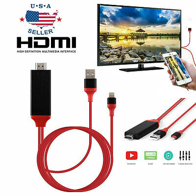 1080 HDMI Phone to TV Cable Adapter Converter Fit For iPhone XXS78 PlusiPad