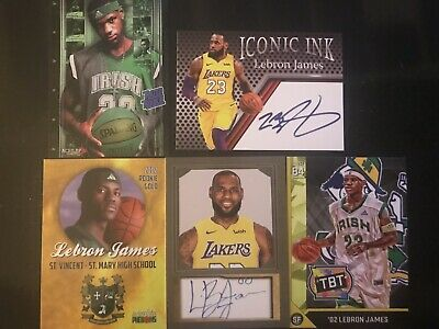 LeBron James Card Lot Rated Rookie Facsimile Autograph Edition GREAT DISPLAY