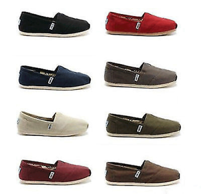 New Womens Toms Classic Slip On Flats Canvas Shoes US sizes