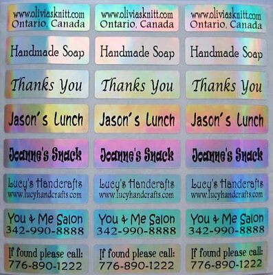 90 Laser Custom Waterproof Name Labels-BUSINESSSCHOOL Buy 5 get 1 FREE