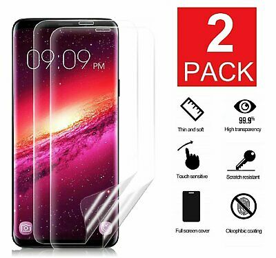 2-Pack For Samsung Galaxy S8 S9 S10 S10e Note 8 9 Screen Protector Clear Film