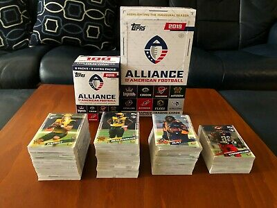 2019 Topps Alliance AAF Football Cards 1-175 You Pick Complete Your Set
