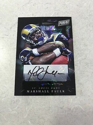 2018 Panini Black Friday - HOF Marshall Faulk Refractor Auto - St Louis Rams