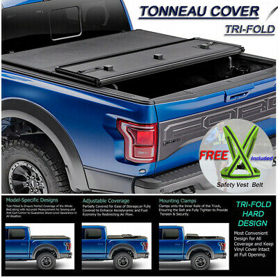 Fits 2004-2018 Ford F-150 Lock Hard Solid Tri-Fold Tonneau Cover 5-5ft 66 Bed