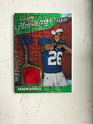 2018 SAQUON BARKLEY PANINI BLACK FRIDAY ROOKIE SANTA HAT 825 GIANTS FAST SHIP