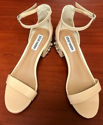 Steve Madden Indie Open Toe Ankle Strap Sandals Womens Size 7M Beige