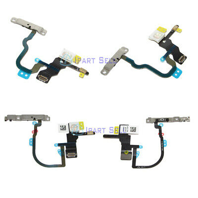 OEM Power Volume Switch Button Flex Cable wBracket For iPhone X XS XS Max