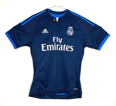 Adidas Real Madrid Mens Size Medium Soccer Jersey ClimaCool Third Jersey Blue