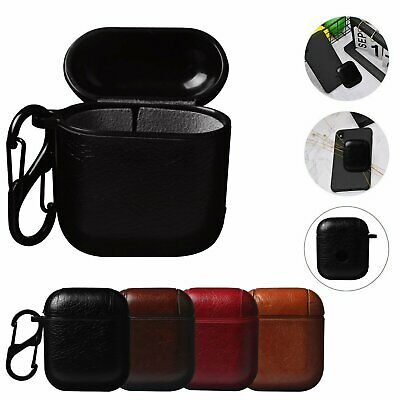 Leather Airpods Earphone Protective Cover Case For Apple AirPod iPhone U-S Stock