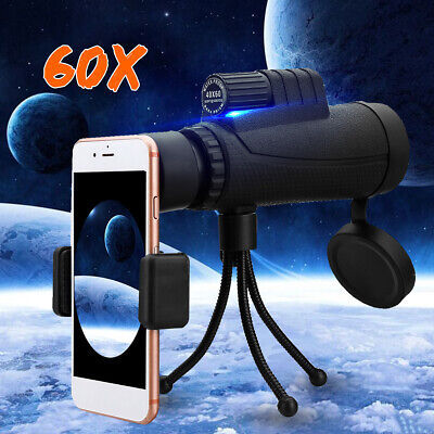 NEW 40X60 Zoom Optical HD Phone Lens Monocular Telescope-Tripod-Clip For iPhone