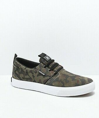 New in Box  Supra Flow Camo - White Skate Shoes - Size 11-5