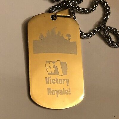 Fortnite Dog Tag - Battle Royale Gold