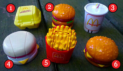 VINTAGE McDonalds 1989 Robot CHANGEABLE Food Transformer PICK YOUR FAVORITE TOY