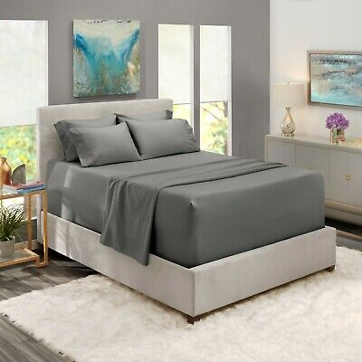 6 Piece 1800 Count Bed Sheet Set Extra Deep Pocket Sheets - 36 Colors Available