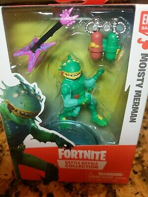 FORTNITE BATTLE ROYALE COLLECTION MOISTY MERMAN 2 Figure Epic Games Moose 2019