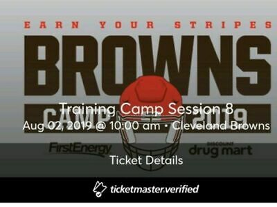NFL Cleveland Browns Training Camp Tickets 8219 Berea Ohio 10am