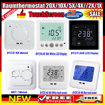 Digital Thermostat Raumthermostat Fußbodenheizung Wandheizung LCD 16A BYC16.H3